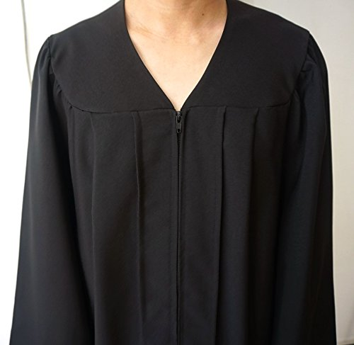 Grad Days Unisex Adult Choir Robes Matte Finish Confirmation Robe Black 51 by Grad Days (Image #2)