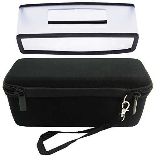 HopCentury Replacement Gel Soft Case Skin Cover and Hard Travel Carrying Case Box for Bose Soundlink Mini Bluetooth Speaker - Black