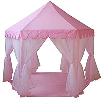greeco princess castle play tent fairy princess castle tent extra large room pink. Black Bedroom Furniture Sets. Home Design Ideas