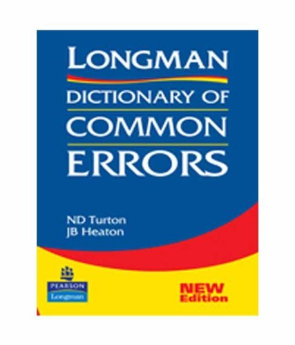 Longman Dictionary of Common Errors; 1e