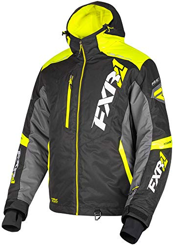FXR Mens Mission FX Jacket (Black/Hi Vis/Charcoal, Medium) (Mission Insulated Jacket)