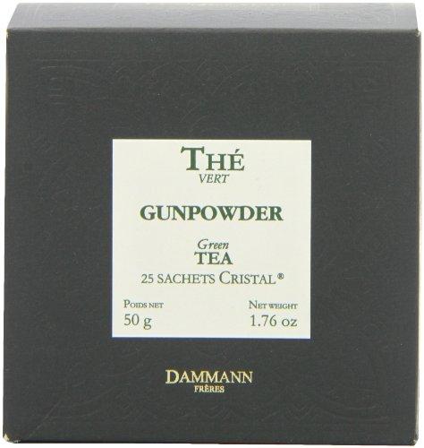 Gunpowder Tea Cristal Teabags (Pack of 2, Total 50 Teabags) (China Gunpowder Tea)