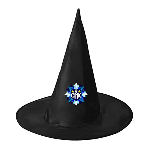 DBT ROBLOX R Logo Fashion Halloween Costume Adult Printed Black Witch Hat