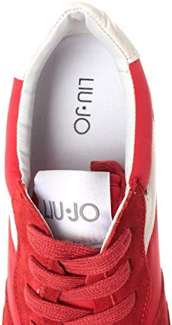 Liu Jo Chaussures Hommes Sneakers Milano Alex Running Rouge Nouveau