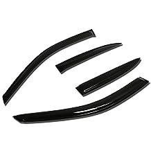 Honda Civic 4DR ES 4pcs Window Vent Visor Deflector Rain Guard (Dark Smoke)