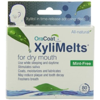 XyliMelts for Dry Mouth, Mint-Free, 80-Count Boxes