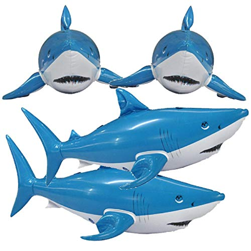 Jet Creations Inflatable Animals Shark 24 inch Long- Best for Party Pool Supplies Favors Birthday Gifts for Kids and Adults an-SHARKY4 (Animal Party Penguin)