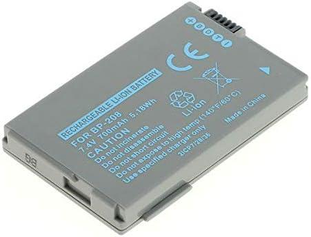 FVM300 IVIS DC200 Optura S1 600 BP-208,BP-208DG Batterie de r HR10 subtel/® Batterie premium compatible avec Canon DC100 DC10 DC95 DC51 DC50 DC40 DC30 DC230 DC220 DC22 DC210 Elura 100 700mAh IXY DV-M5 MVX4i MVX1Si MVX460 MVX450 MVX430 IXY DVX1