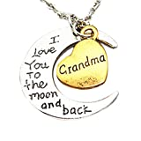 WoCoo Family Necklace,I Love You to The Moon and Back Engraved Brothers and Sisters Pendant Necklace(I)