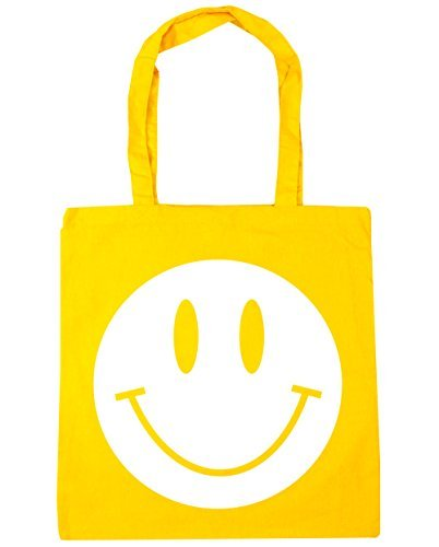 10 FACE Beach 42cm litres HippoWarehouse Bag SMILEY Tote Shopping Yellow x38cm Gym zq00xwB5X