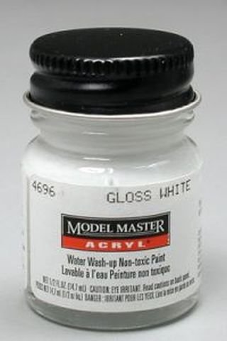 Gloss White Testors Acrylic Plastic Model Paint