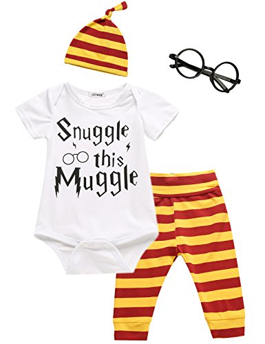 3Pcs/Set Baby Boy Girl Infant Snuggle this Muggle Rompers (0-3 Months)