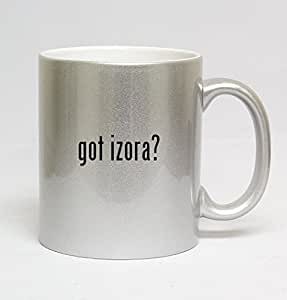 11oz Ceramic Silver Coffee Mug - got izora?