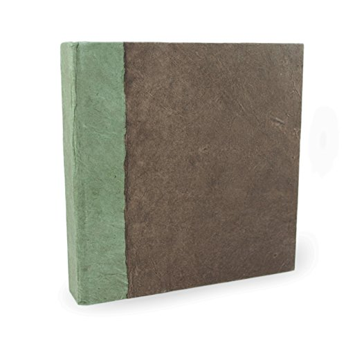 Nepali Namaste Journal with Handmade Lokta Paper and Vegetable-Dyed Cover (6×6 Inches, Walnut)
