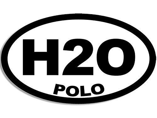Water Polo Sticker Bumper - BW Oval H2O Polo Sticker (water polo decal)