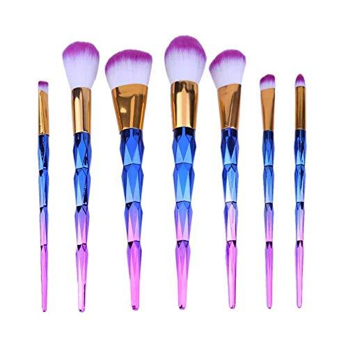 a123a46e3fec Diamond Brush Red Dieny Brushes 7pcs Diamond Gradual Blue Handle Makeup  Brushes Set Brush Kit