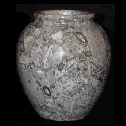Amazon Decorative Fossil Stone Vase Marble Flower Vase 6