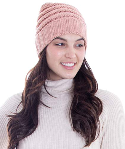 Simplicity Men/Womens Chunky Soft Knitted Warm Winter Beanie Hat