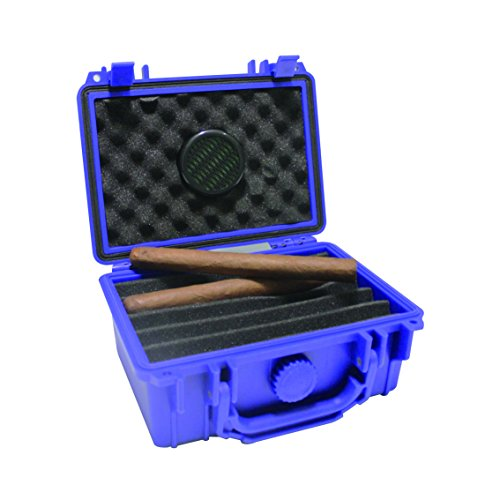 F.e.s.s. Armour Waterproof Crushproof Airtight Floats On Water Solid Blue Travel Cigar Humidor Capacity 10-15 Cigars by F.E.S.S.
