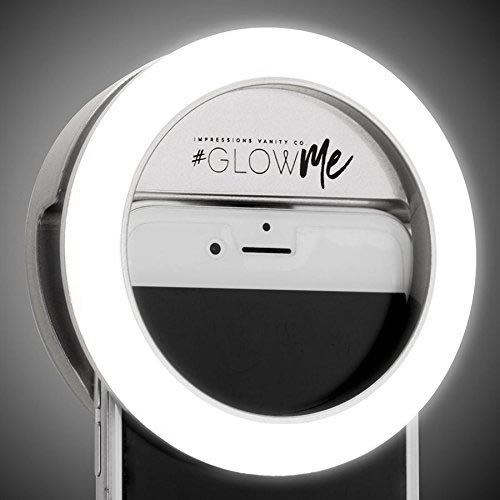 Impressions Vanity Company Glowme 2.0 USB Rechargeable LED Selfie Ring Light, 4.5 Pound