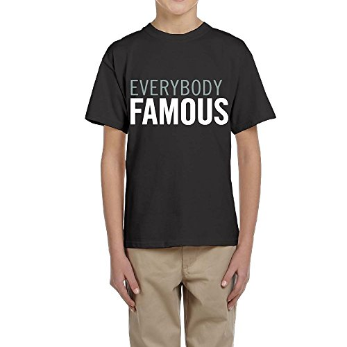Boy and Girl Everybody Famous 100% Cotton T Shirt Teenager Tee Shirts