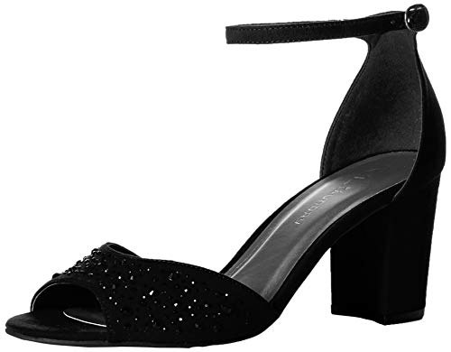 CL by Chinese Laundry Women's Joella Heeled Sandal, Black Suede, 10 M US