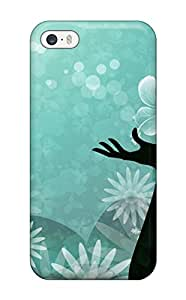 For Iphone Case, High Quality Beautiful Girl Turquoise Vectors Widescreen For Iphone 5/5s Cover Cases