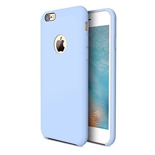 TORRAS [Love Series] iPhone 6S Case/iPhone 6 Case, Liquid Silicone Rubber Shockproof Case Soft Microfiber Cloth Cushion Compatible iPhone 6 / 6S, Light Blue