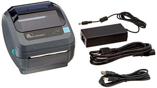 Zebra - GK420d Direct Thermal Desktop Printer for Labels, Receipts, Barcodes, Tags, and Wrist Bands - Print Width of 4 in - USB and Ethernet Port Connectivity (Renewed) by ZEBRA (Image #2)