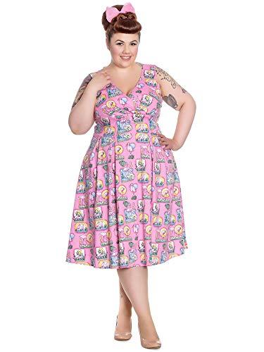 Bunny Hell Rose Bonbon Robe Femme Trapèze Sans Manche Zq6rqdY