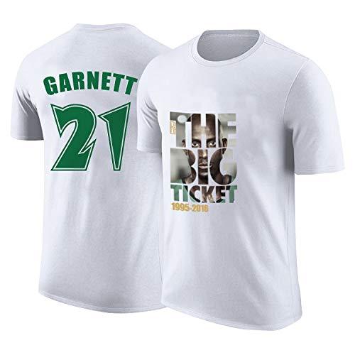 KLEDDP Camiseta Hombre KG Garnett Retirado Memorial Basketball ...