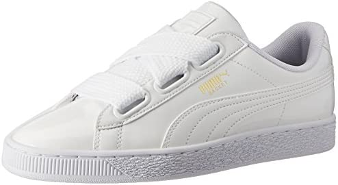 wholesale dealer 24502 bda5d Puma Women Basket Heart Patent Low-Top Sneakers, White, 6 UK ...