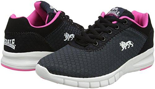 Tydro Gris Para black Lonsdale Deporte Zapatillas Mujer Exterior pink De charcoal 0BxxdIaw