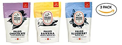 Paleo Baking Company Variety Pack of 3 Mixes: Paleo Banana Bread, Paleo Blueberry Muffin & Paleo Chocolate Cake & Muffin Mix