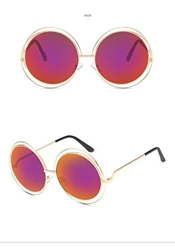 Anti 75 UV400 mujer Marco gafas gafas 728 Nikgic 70mm reflectantes sol nbsp;– de Redondo Retro para polarizadas Rose de nbsp;Mode Rojo Glare XxHwqFwYZ