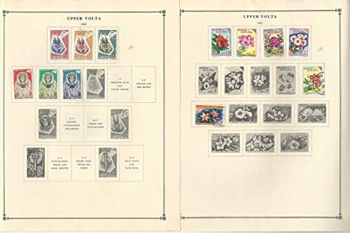 Burkina Faso Stamp Collection 1959-1963 on 6 Scott International Pages
