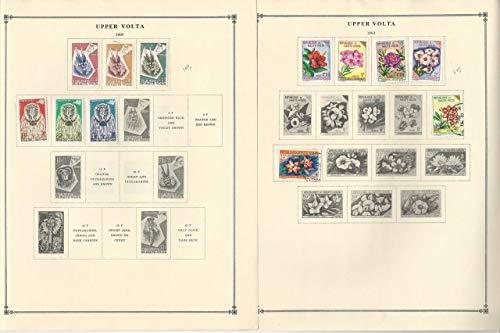 Burkina Faso Stamp Collection 1959-1963 on 6 Scott International ()