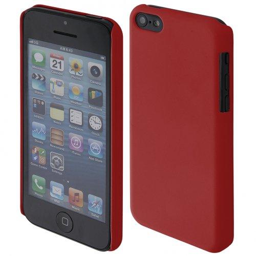 handy-point Hardcase COBI gummierter Kunststoff Kunststoffhülle Hülle Schale Schutzhülle Handyhülle Handyschale cover Kunststoffschale für iPhone 5C, Rot