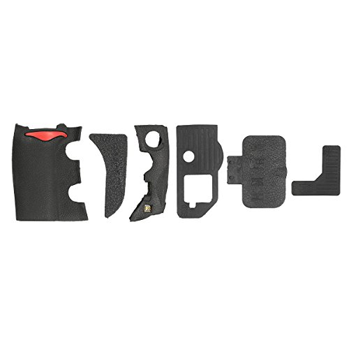 US Warehouse - 6 Pieces Grip USB Rubber Unit Repair Cover Part and Adhesive Tape For Nikon D700
