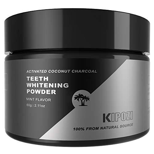Charcoal Teeth Whitening Powder, Natural Organic Coconut Charcoal Powder, Naturally Whiten Teeth & Freshens Breath,Safe on Enamel 2.11 oz(Mint Flavor)