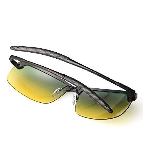 Hombres Personalidad RyimsD Gafas Sol De Visera Callejera De Gafas Gafas Moda Nocturna Metal Conducción Photocolor Photocolor Visión Vistoso Escena 7ffrYdq