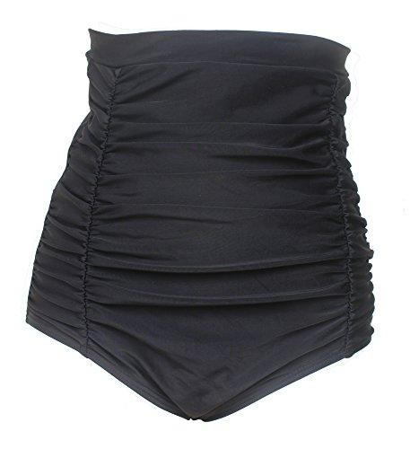 Twcs Women High Waist Swimsuit Bottoms Vintage Ruched Plus Size Bikini Bottom