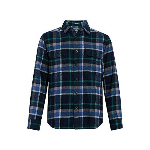 Woolrich Men's Oxbow Bend Flannel Shirt, deep Alpine Blue, Small ()