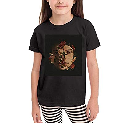 LAURA NORMAN Girls'&Boys' Shawn Mendes Logo Short Sleeves Top Tee for Kids