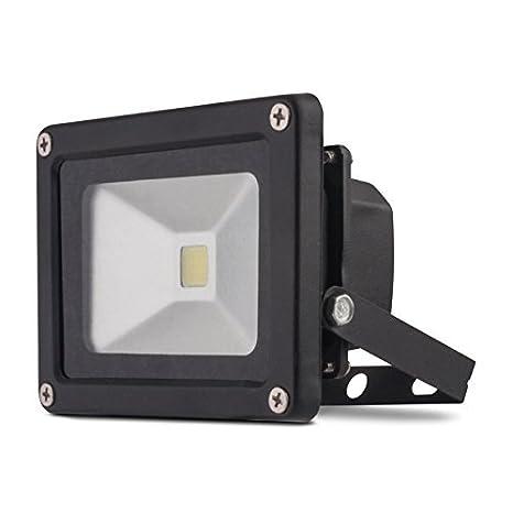 Exterior - Foco proyector Led 10 W blanco frío 740 lm Foco Jardín ...