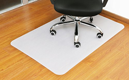 Polytene Office Chair Mat 48'x31'Hard Floor Protection Rectangular Anti Slide Coating on the Underside,White