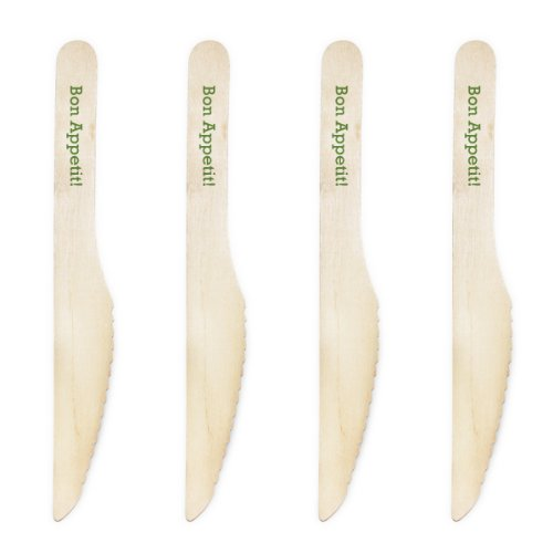 Dress My Cupcake Natural Wood Candy 500-Pack Buffet Knives DIY Kit, Bon Appetit, Leaf Green by Dress My Cupcake