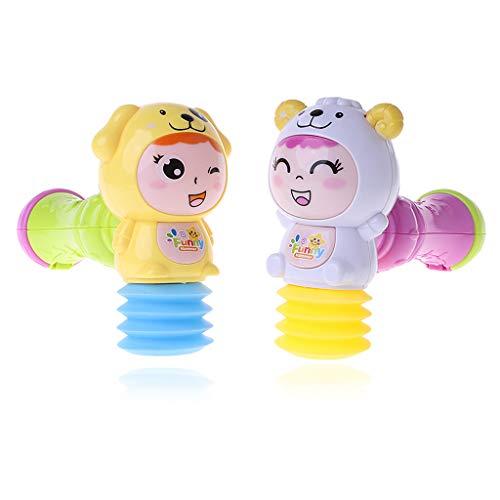 JAGENIE赤ちゃんLEDライトサウンドミュージックサンドハンマーおもちゃ幼児ラトルミュージカル玩具RandomChristmas新年ギフト、1 PC、ランダム配信