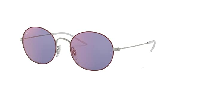 7d93dab604b677 Ray-Ban RB3594 BEAT 9112D1 53M Silver on Top Bordeaux Dark Violet Red Mirror