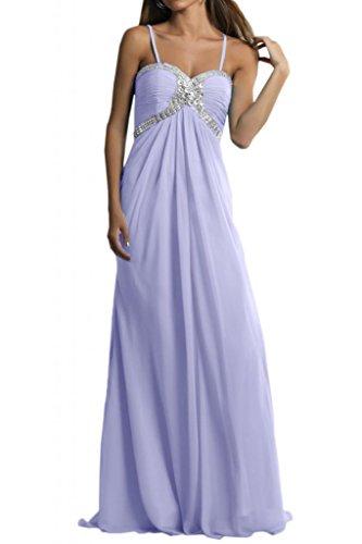 Toscana Scheind Rueckenfrei por la noche vestidos de novia de gasa vestido de fiesta largo vestidos de bola Lavanda